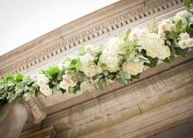 Garland Arrangement - Hydrangea, Roses