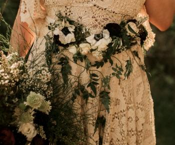 Bride Floral Belt