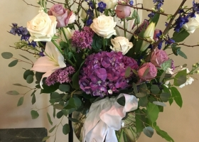 Funeral flowers by Bloomberry for Gearty Delmore funeral home
