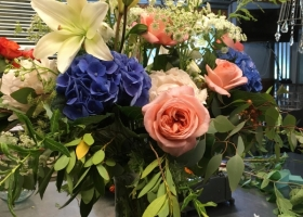 Pastel memorial service flowers Minnesota Floral Designer