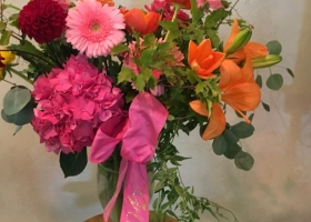Large vase arrangement Funeral home Minnesota