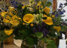 Yellow funeral flowers by Minneapolis florist Bloomberry
