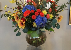 Spring larger vase arrangement Funeral Service