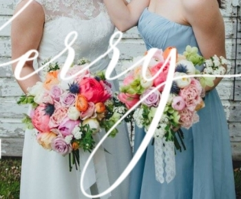 Spring Bride and Bridesmaids Bouquet by Bloomberry Floral