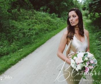 Elegant Bridal Bouquet of Garden Roses, Ranunculus and Jasmine Vine
