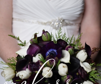 Deep Eggplant Bridal Bouquet by Bloomberry Floral