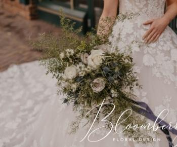 Romantic Bouquet in Blues & Whites