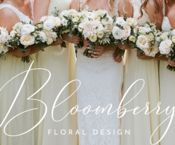 Pale Yellow and Blush Bouquets of Dahlias & Roses