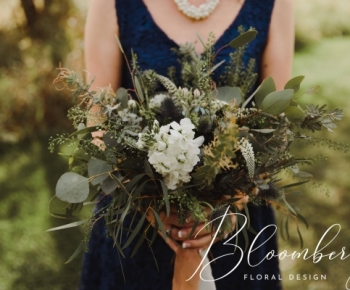 This rustic prairie style bridesmaids bouquet was the perfect compliment for this Minnesota outdoor ceremony at the Minnetonka Apple Orchard.