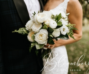 Elegant All white and ivory brides bouquet