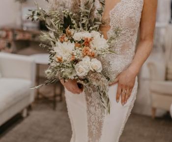 Romantic Dahlia Bridal Elegant Bouquet