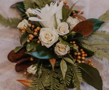 Floral Bridal Hair Piece by Bloomberry Floral Minnesota
