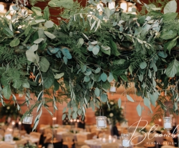 Greenery and Eucalyptus headtable Centerpiece Winter Reception