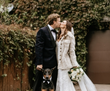 Bride and Groom with Dog Wayzata Minnesota