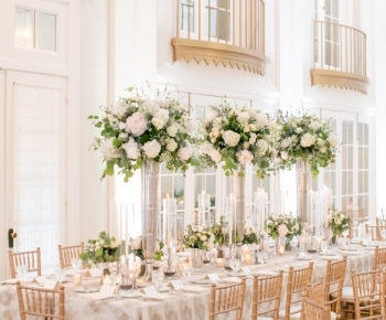 Harvest Headtable arrangements in Blush & Ivory - Lafayette Country Club