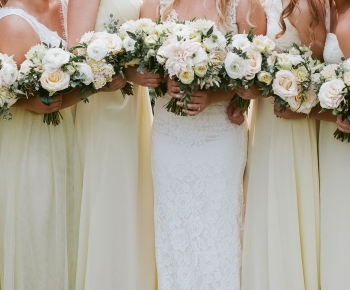 Bride and bridesmaids bouquets by Bloomberry Floral