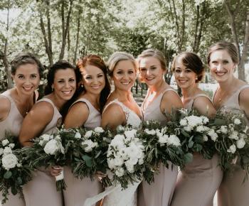Bridesmaids and Bride at Rush Creek Golf Club Maple Grove MN
