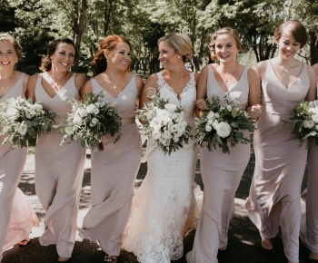 Wedding party at Rush Creek Minnesota