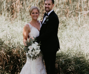 Bride and Groom Boutenniere by Bloomberry Floral