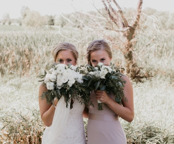 White and Blush flowers by Anne Monroe