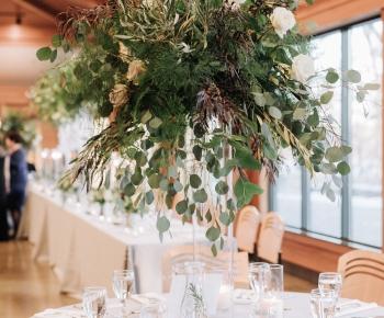 Large Eucalyptus and Greenery Tall Wedding Centerpiece