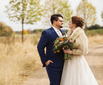 Autumn wedding at Redeemed Farm Stillwater Minnesota