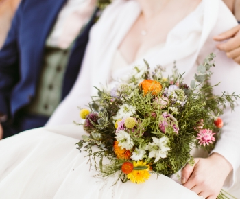 Rustic prairie brial bouquet by Bloomberry Floral