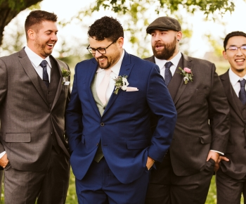 Groom and Groomsman rustic boutonniere