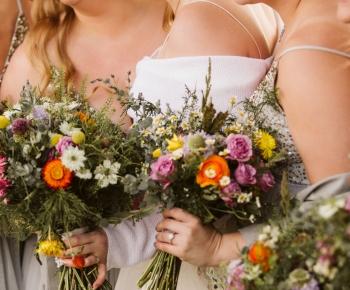 Bride and Bridesmaids Rustic Prairie Bouquets