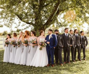 Farm wedding setting Minnesota Stillwater