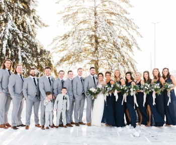 Outdoor winter wedding by Bloomberry at Minneapolis Marriott