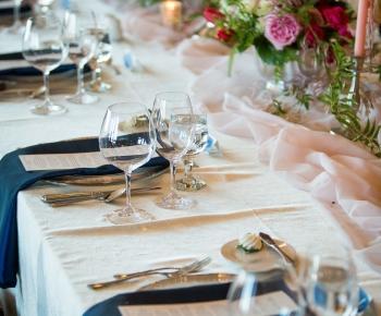 Head table at Wayzata Country Club wedding