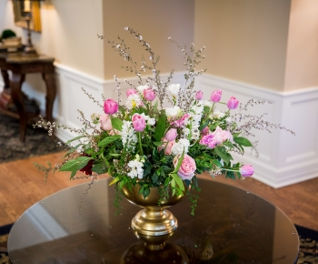 large spring floral arrangement by Bloomberry