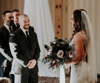 Wedding Ceremony at Bunker Hills Golf Course Minnesota
