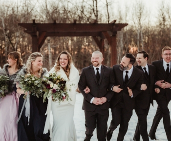 Winter Wedding Bridal Party Moody Color Palette