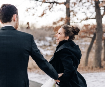Bride and Groom at Three River Parks venue Minneapolis