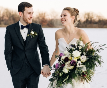 Groom boutonniere by Minneapolis florist Bloomberry Floral