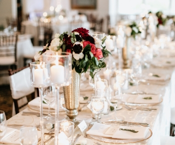 Wedding Harvest Table Candles Merlot Flowers Wayzata Country Club