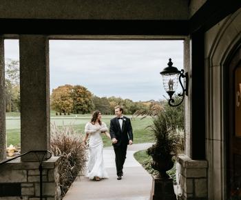 Bride and Groom Country Club Wedding Minnesota