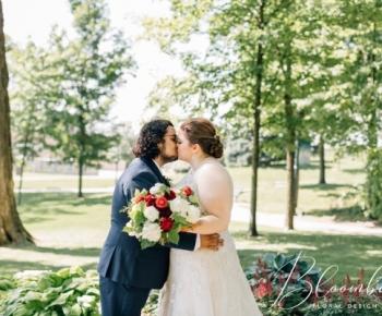 Bride and groom Summer wedding Minneapolis