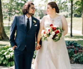 Bride and groom Solar Arts Minneapolis
