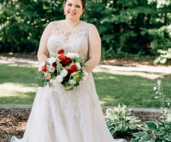Bride with White, Quicksand, Red, Merlot and Raspberry Leaves