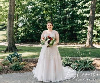 Bride at Solar Arts in Minneapolis Summer Bouquet