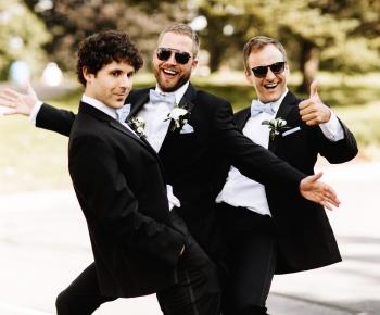 Groomsmen Country Club Wedding White Boutonniere