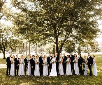 Bridal Party Golf Course Wedding Minnesota