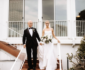 Father and Bride Outdoor Ceremony Wayzata Country Club