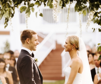 Bride and Groom Floral and Greenery Wedding Arch